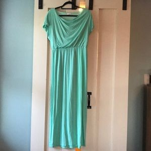 Charming Charlie's turquoise maxi dress